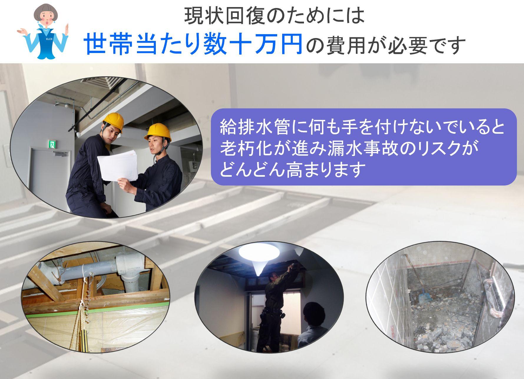現状回復のためには 世帯当たり数十万円の費用が必要です