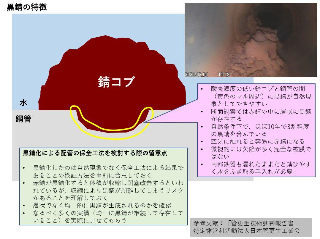 黒錆の特徴と黒錆化による配管の保全工法を検討する際の留意点